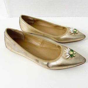 Banana Republic Gold Pointed Flats